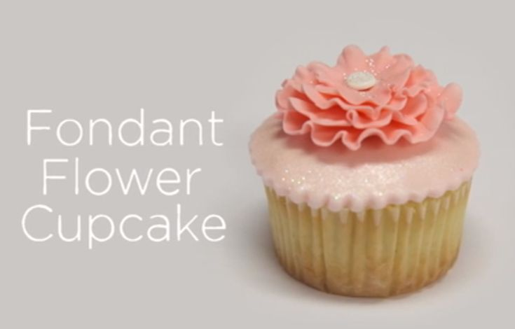 null - Marsha Winbeckler shares these directions for making a fondant flower cupcake topper, an exclusive from her class Fondant Ruffles, Pleats & Drapes. - via @Craftsy