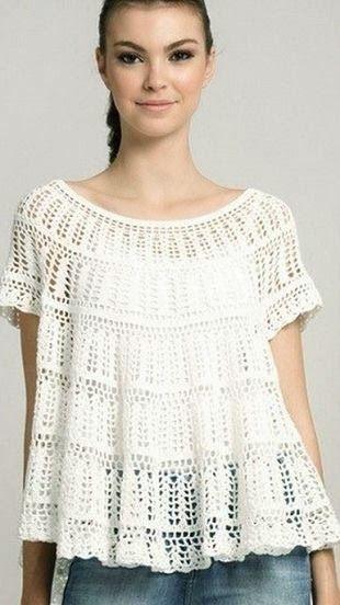 Блуза с круглой кокеткой | Из бабушкиного сундучка