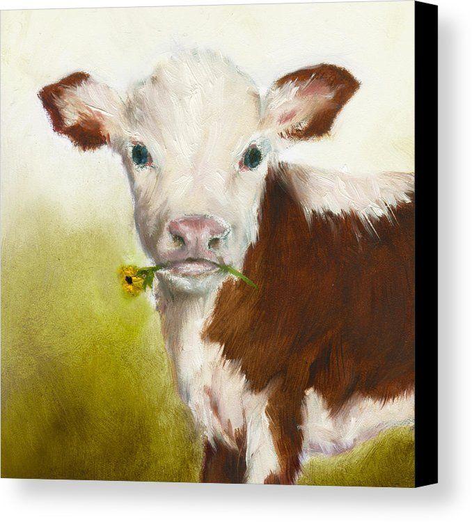 Cow Art Print Canvas Print By Junko Van Norman All Canvas Prints