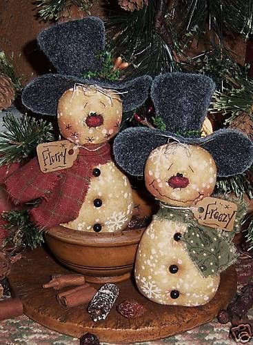 Patti's Ratties Snowman Frosty Doll Ornies Pattern 397   eBay