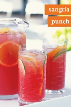 Sangria Punch – Add a refreshing chill to spring with this delightful Sangria Punch recipe! This fruity cranberry-citrus creation has no alcohol, so your whole family can enjoy it. Get the ingredients you need delivered to your home with Instacart where available.