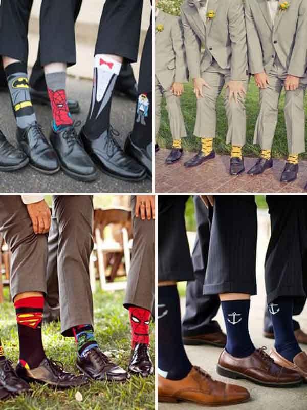 cadeux des chaussettes pour les garcons d'honneur