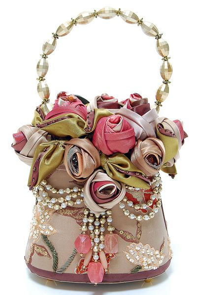 MARY FRANCES Glamour Girl Antique Style Purse. I buy her purses for my mother at Christmas.