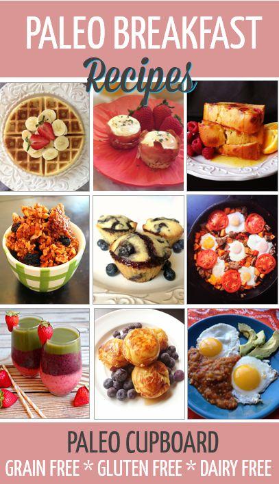 Paleo Breakfast Recipes - www.PaleoCupboard.com  Gluten-Free Grain-Free Dairy-Free