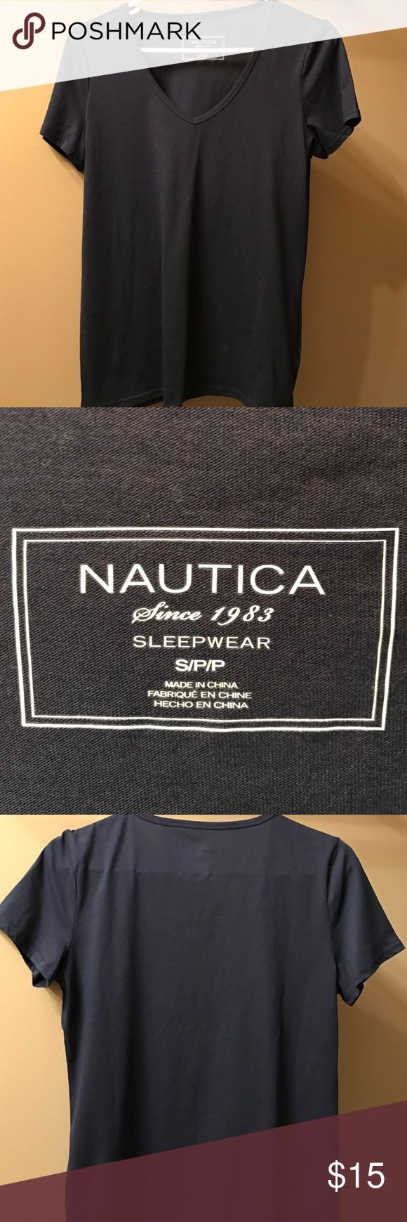 Navy Blue Shirt Navy Blue Shirt by Nautica. Great Condition. Never Worn Before Tops Tees - Short Sleeve