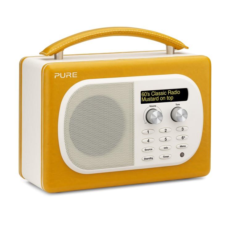 PURE EVOKE Mio Mustard Retro Digital FM Radio #ACHICAyellow
