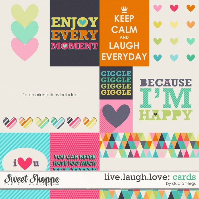 Live.Laugh.Love: Cards By Studio Flergs at Sweet Shoppe Designs