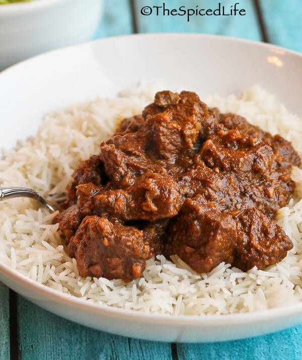 Restaurant Style Beef Vindaloo--Indian curry like what you would order in an Indian restaurant in America