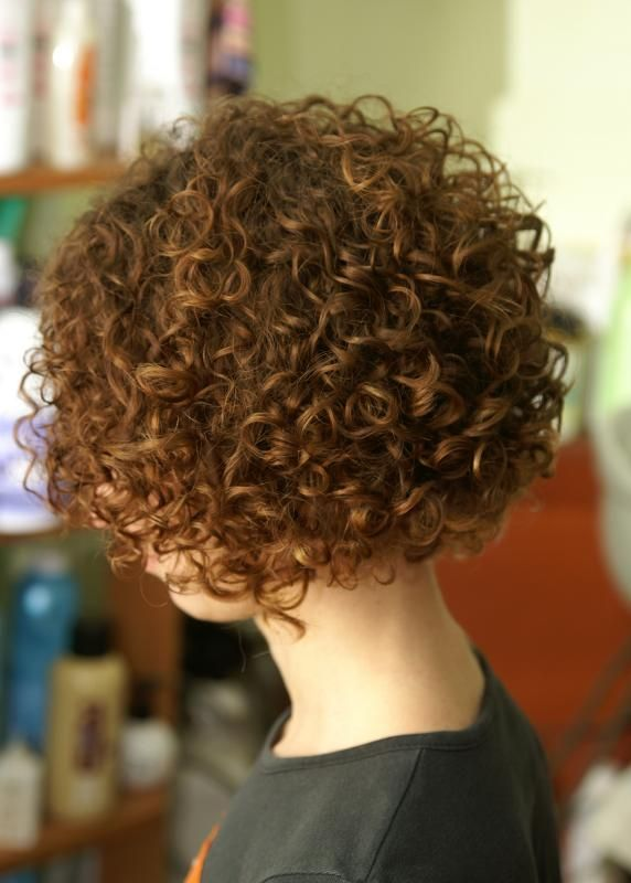 So cute. Want this exact perm curls and cut. Maybe a little more red for color :-)