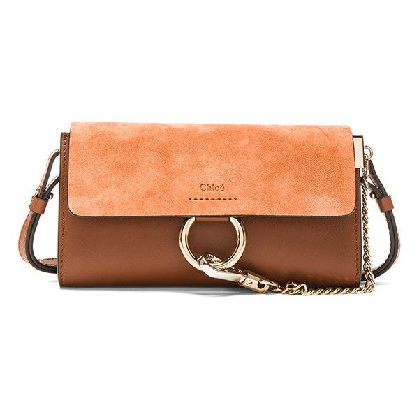 Chloe Leather Faye Strap Wallet (€720) ❤ liked on Polyvore featuring bags, wallets, handbags, hardware bag, chloe wallet, chloe bag, red wallet and red bag