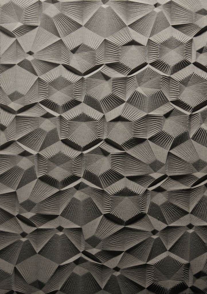 Curve Milling: Architectural Surface, Patterns, Texture, Curve Milling, Elijah Porter, Nested Hexagons, Linework Radiating, Design, Material