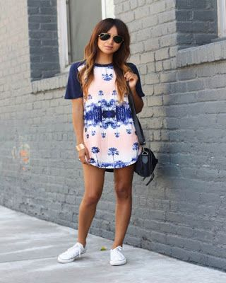 8c553bbdf Outfits de vestidos con TENIS casuales juveniles tumblr que estan de MODA