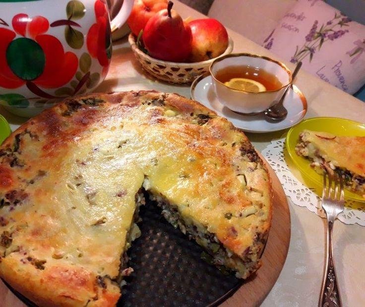 Заливной кефирный пирог с сардинами по рецептам С С С Р