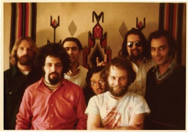 The Seven Samurai of Zap: from left, Rick Griffin, Spain Rodriguez, Robert Williams, Robert Crumb, Gilbert Shelton, S. Clay Wilson and Victor Moscoso