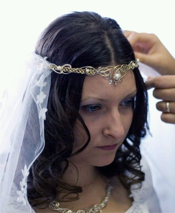Nice head piece for my Celtic wedding dress
