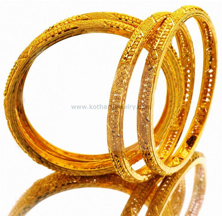 Bangles / Bracelets / Kada - Gold Jewellery Bangles / Bracelets / Kada (BG00005700) at USD 2,891.45 And EURO 2,636.95