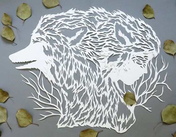 how to make paper cutting art