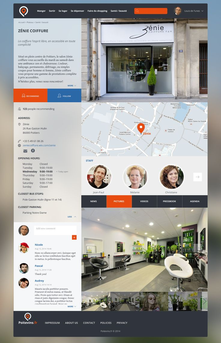 Design for a french local social media website...