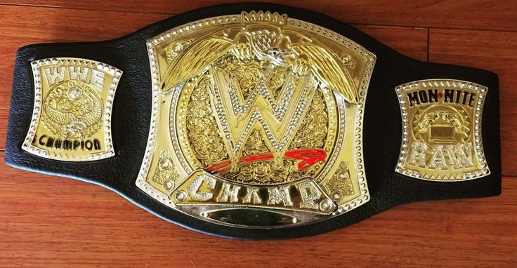 Jakks WWE WWF Monday Raw Youth Wrestling Spinner CHAMPIONSHIP Belt Foam 2005