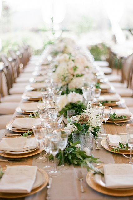 """Being that we were sharing our 'I dos' on my family farm, some of the  wedding menu, including the organic chickens, were farm raised with love on-site,   giving this wedding that farm-to-table feel.""Catering: Duo Catering & Events."