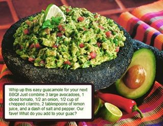 What's better than fresh homemade guacamole?!?! Tell us your favorite party dish! Use code INSTAGRAM to get a great discount on all of our barbecue grills! #guacamole #guac #nachos #party #bbq #barbecue #tasty #snacks #salsa #avocado #mondaymood #coffeelover #finalsweek #gameofthrones #tacotuesday #grill #chipotle #homegoods #bedbathandbeyond #tacobell