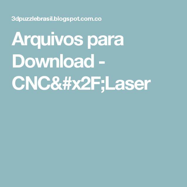 Arquivos para Download - CNC/Laser