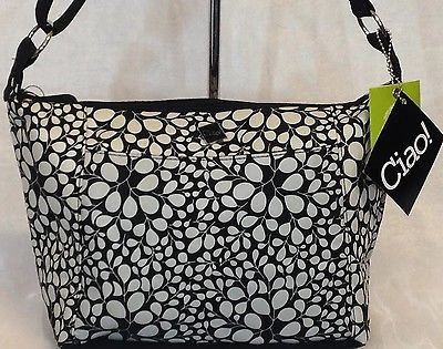 Lunch Bag Insulated Box Handbag For Woman Black With White NWT