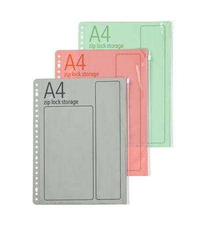 3 Ziplock-Klarsichthüllen, DIN A4 - HEMA
