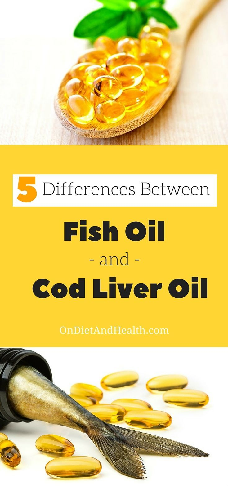 5 Differences between Fish Oil and Cod Liver Oil // OnDietAndHealth.com // #healthyfats #fishoil #codliveroil