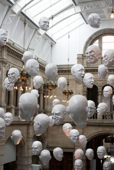 Hanging Heads, Kelvingrove Art Gallery and Museum, Glasgow, Scotland