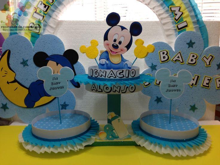 Decoraciones infantiles mickey baby shower bases en for Decoraciones infantiles para ninos