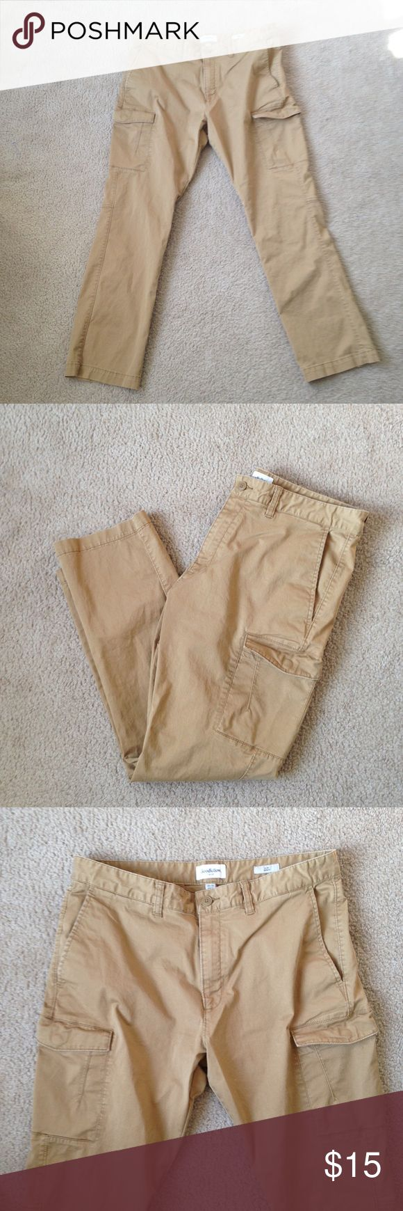 Men's khaki chinos 36x30 Size 36 x 30 men's slim straight tan chinos with a cargo pocket. Brand is Goodfellow & co., bought from Macy's about a month ago. Excellent condition.  15% off 2+ bundles! Goodfellow & Co. Pants Chinos & Khakis