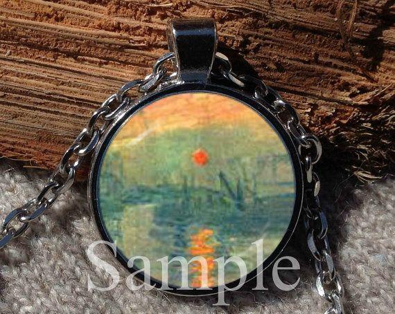 Monet's Impression Sunrise Monet Fine Art Pendant BUY 2 by Aranji