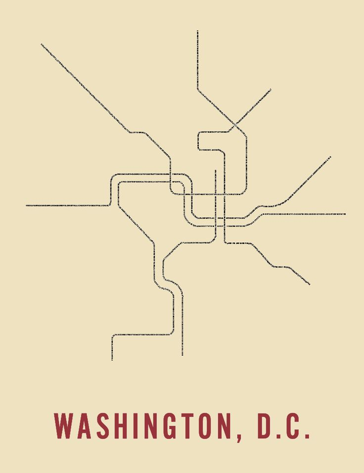 Washington DC metro map as artwork - recopy idea except with colors of lines