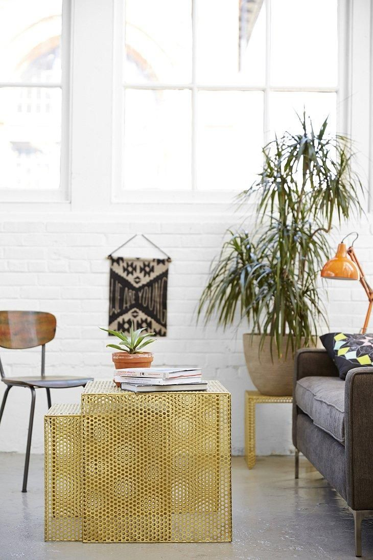 Nested Caged Metal Side Table