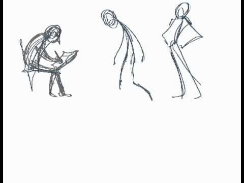 Learning Gesture Drawings of characters