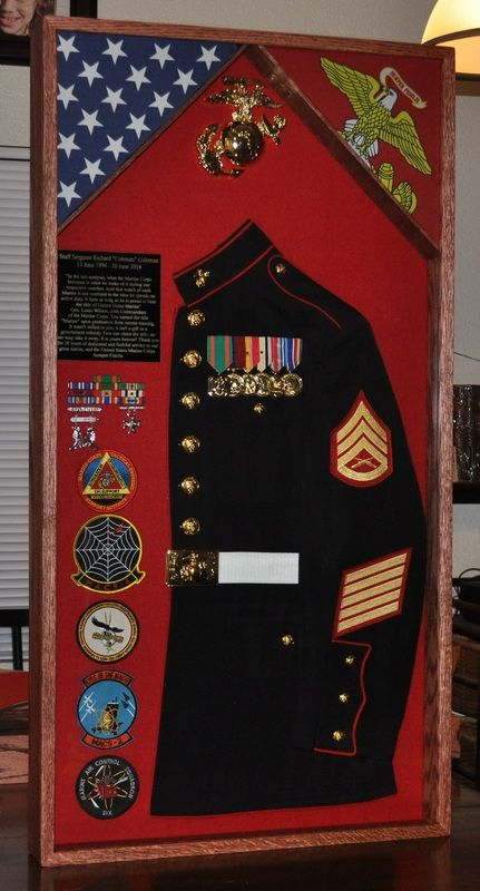 Usmc Man Cave Ideas : Best images about shadow box on pinterest blue