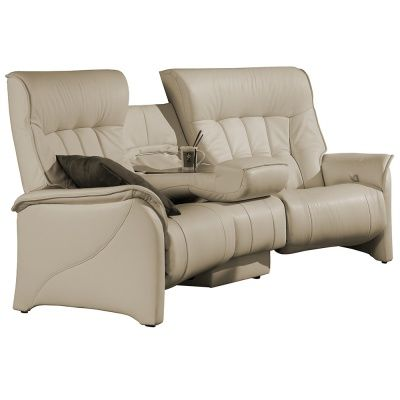 The Himolla Rhine Curved 3 Seater Sofa - 3 Seater Recliner Leather Sofa