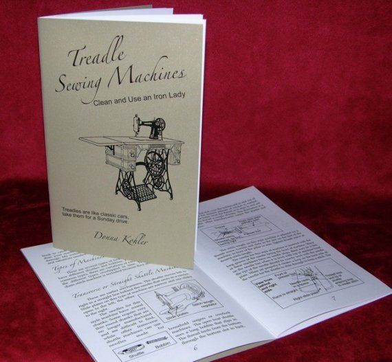 Treadle Sewing Machines Cleaning Book by TreadleLady on Etsy, $8.00