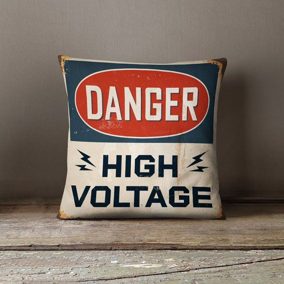 Retro Pillow | Industrial Decor | Handyman Gift | Cool Mens Gift | Electrician Gift | Electrical Engineer Gift