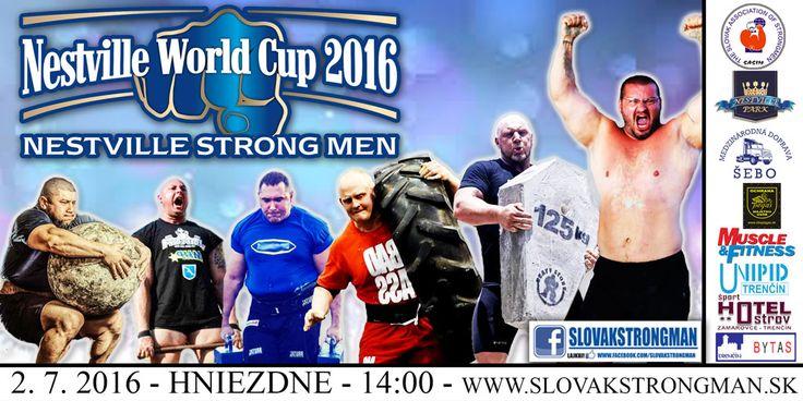 V prvú júlovú sobotu (2. 7.) sa v Nestville parku v Hniezdnom – počas tradičného Nestville open festu – koná Svetový pohár silných mužov.