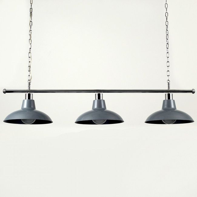 over table lighting. delighful lighting industrial style chrome 3 way over table light with silver shades on lighting e