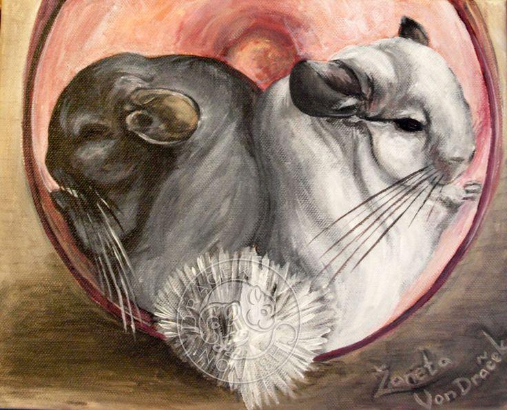 I love chinchillas Akryl na plátně