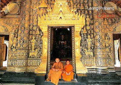 """LAOS (Louangphrabang) -  Wat Xieng Thong - part of """"Town of Luang Prabang"""" (UNESCO WHS)"""