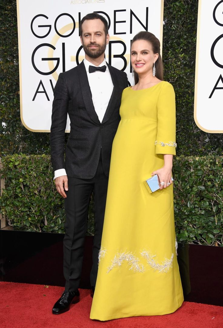 Golden Globes 2017 Actress Natalie Portman (R) and Benjamin Millepied attend the 74th Annual Golden Globe Awards at The Beverly Hilton Hotel on January 8, 2017 in Beverly Hills, California.