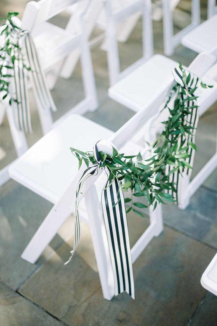 #aisle-decor, #stripes, #white  Photography: Aaron And Jillian Photography - www.AaronandJillian.com Event Design: A.Caldwell Events - acaldwellevents.com Floral Design: Tiger Lily Florist - tigerlilyweddings.com