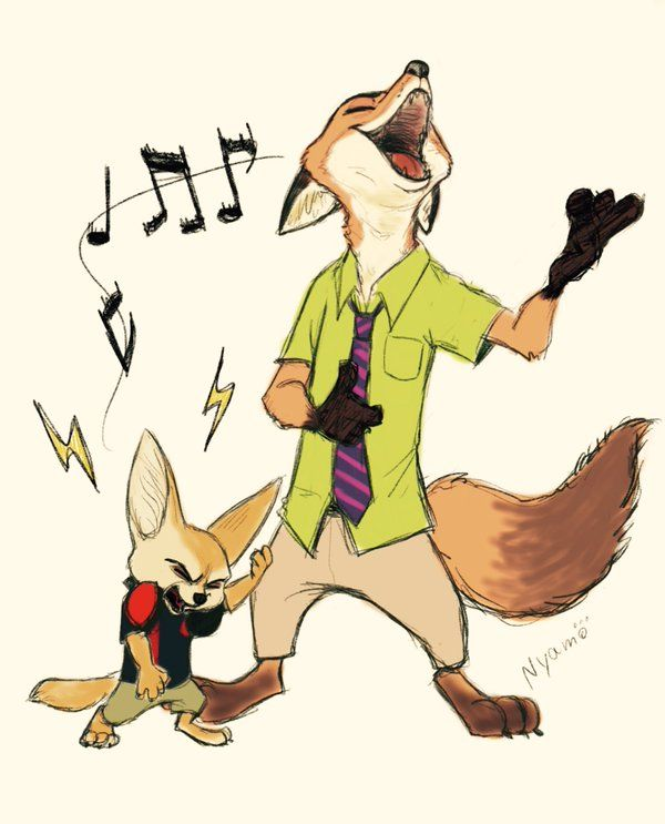 Nick and Finnick rocking it out. #Zootopia
