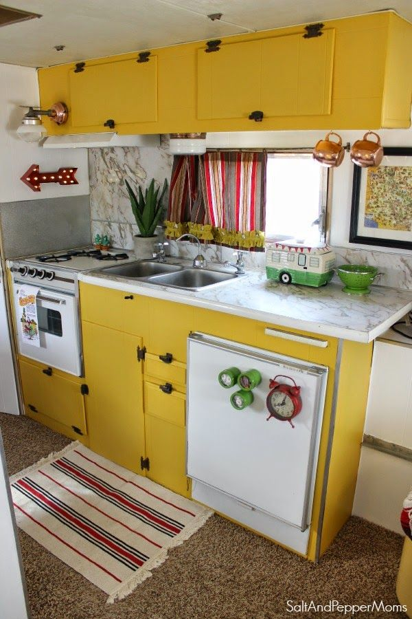 Best Vintage Campers Trailers Images On Pinterest - Old shabby trailer gets one hell makeover
