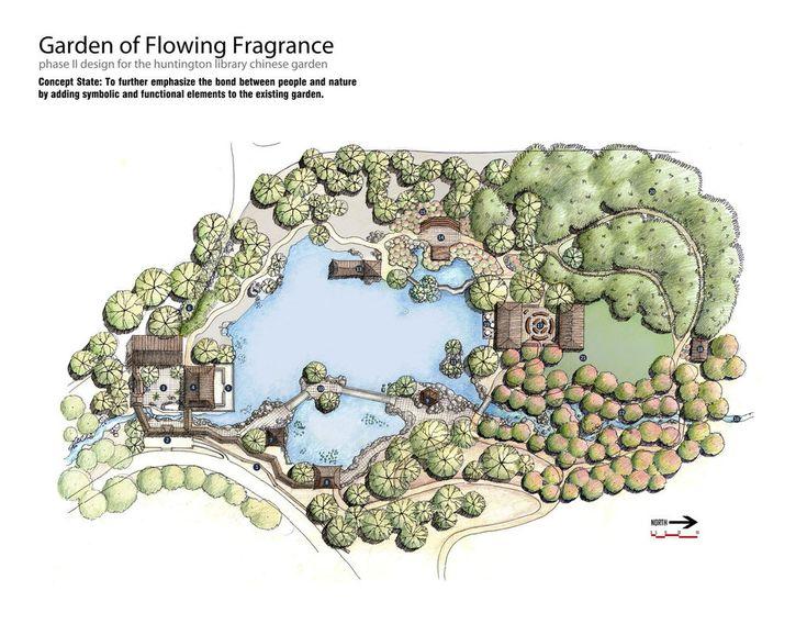 Chinese Garden Site Plan by omgtim Representacin URBANA