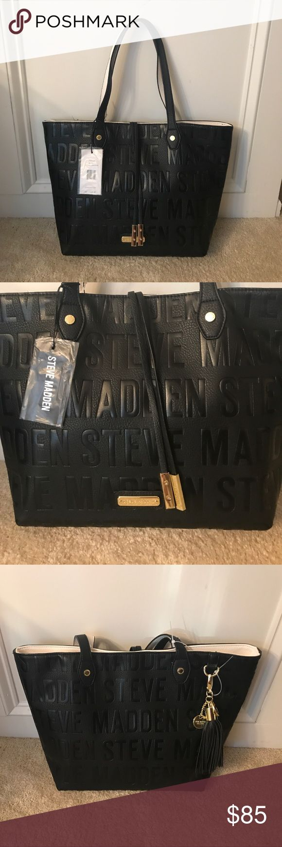STEVE MADDEN- Tote and Bonus Purse NWT STEVE MADDEN- NWT Tote with bonus white purse Steve Madden Bags Shoulder Bags